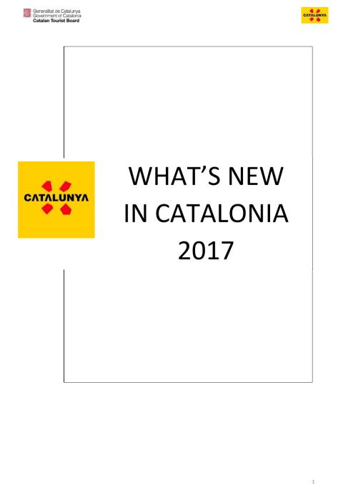 What's new in Catalonia 2017