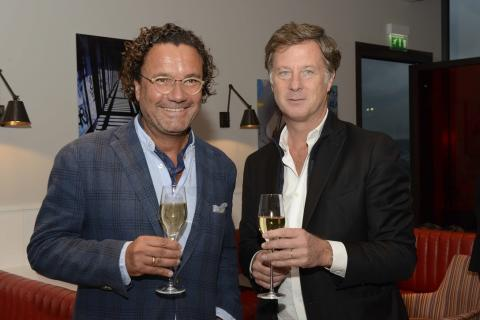 Christoph Hoffmann, CEO der 25hours Hotels und Sébastien Bazin, Chairman & CEO der AccorHotels © Philippe Wang
