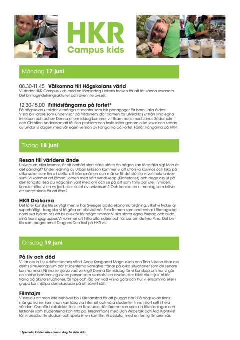 Program HKR Campus Kids 2918
