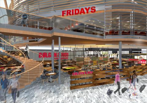 TGI Fridays og Bølgen & Moi Food Garage innland OSL