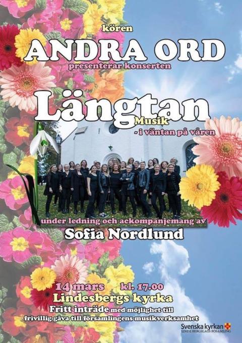 Lindesbergs kyrka: Konsert med Andra Ord