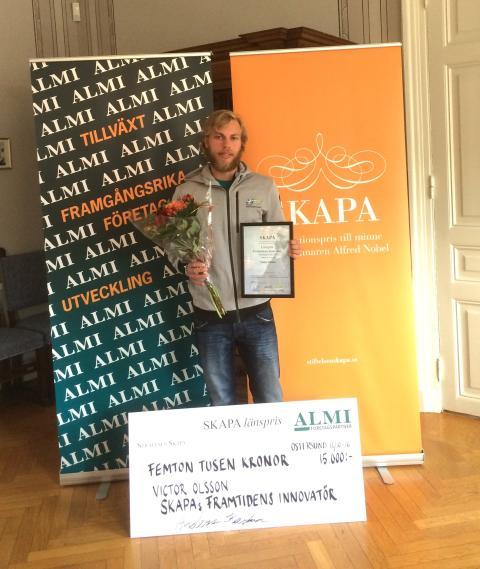 Victor Olsson - vinnare av SKAPA Framtidens Innovatör