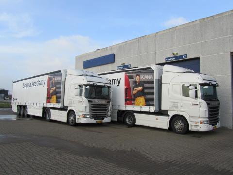 Scania Driver Academy undervisningsbiler