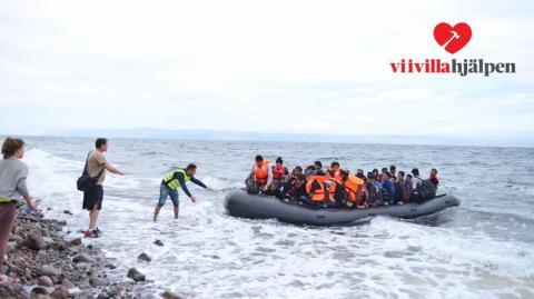 Vi i Villa hjälper migranter i Grekland tillsammans med GRABBER