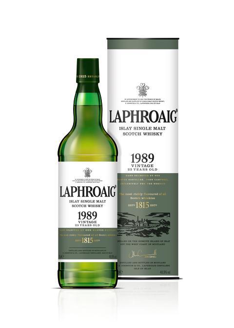 Laphroaig 1989 Vintage on white