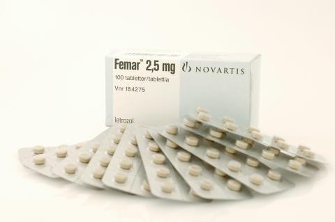 Femar, förpackningsbild med tabletter