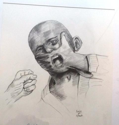 Teckning gjord av Nahan Ali Ali.