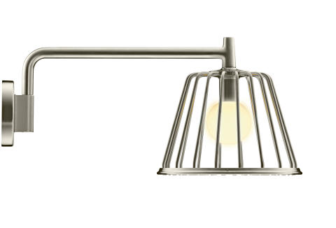 Axor_LampShower_by Nendo_Wall_Brushed_Nickel