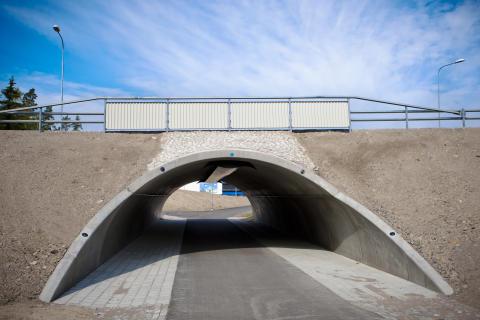 Cykeltunnel i prefabricerad betong, Växjö