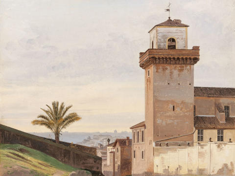 New acquisition: View of San Pietro in Vincoli in Rome by Constantin Hansen