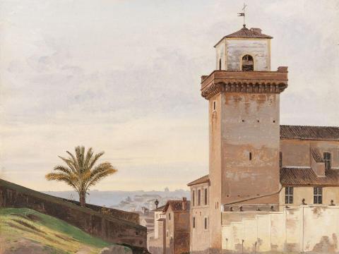 Nyförvärv: Constantin Hansens Vy av San Pietro in Vincoli i Rom