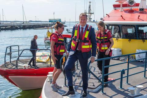 Anders Ygeman besökte Sjöräddningssällskapet
