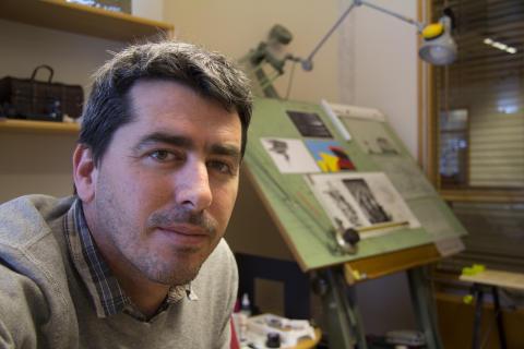 Eran Aronson, forskare vid KTH:s ljuslaboratorium.