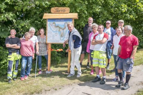 Nya skyltar på Tärnö underlättar för besökare