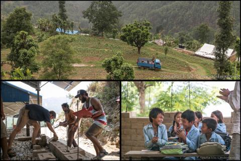 Farang är med och hjälper jordbävningsdrabbade Nepal.
