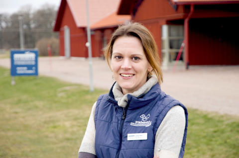Veterinär Esmee Smiet, en av Evidensia Specialisthästsjukhuset Strömsholms medicine specialist