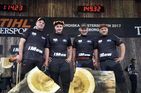 Sverige på nytt nordisk mästare i Timbersports