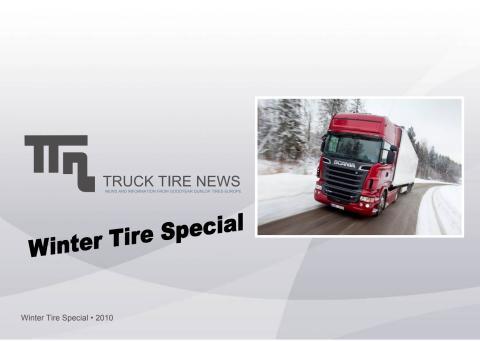 Goodyear Dunlop Truck tire news Winter tire special Edition