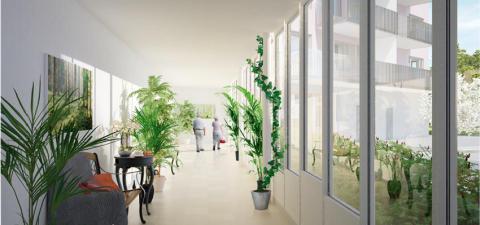Det första spadtaget för Blomsterfondens nya seniorbostäder i Älvsjö
