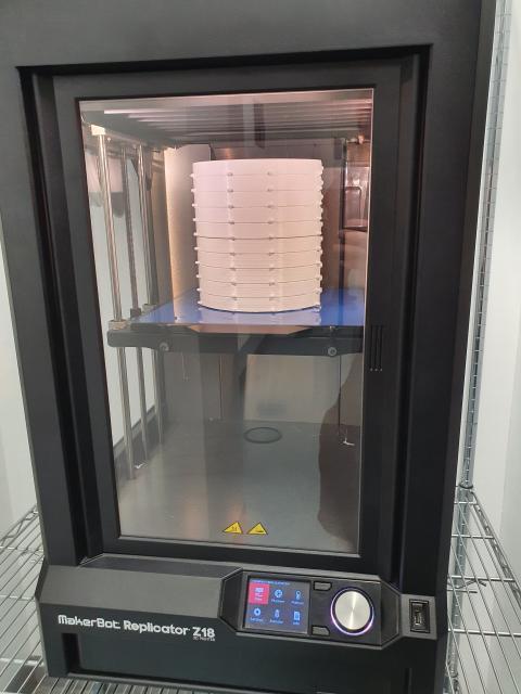 3D printing visor components at Northumbria University