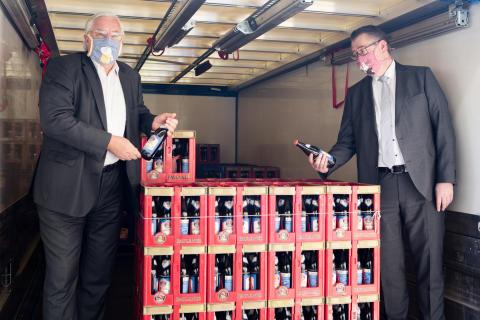 Die Paulaner Brauerei Gruppe unterstützt Krankenhäuser und Hilfsorganisationen mit Getränken