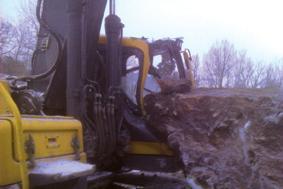 10-tons block över hytt - Hammerglass ruta helt oskadd