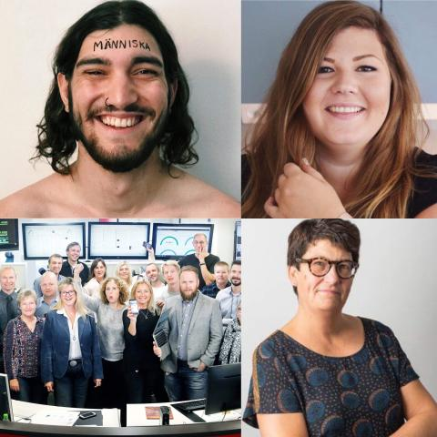 Finalisterna i Årets Nätängel Media 2018