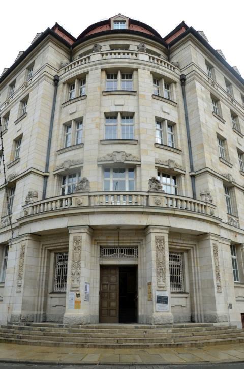 """Das Museum in der """"Runden Ecke"""" befindet sich in den ehemaligen Räumen der Leipziger Bezirksverwaltung für Staatssicherheit"""