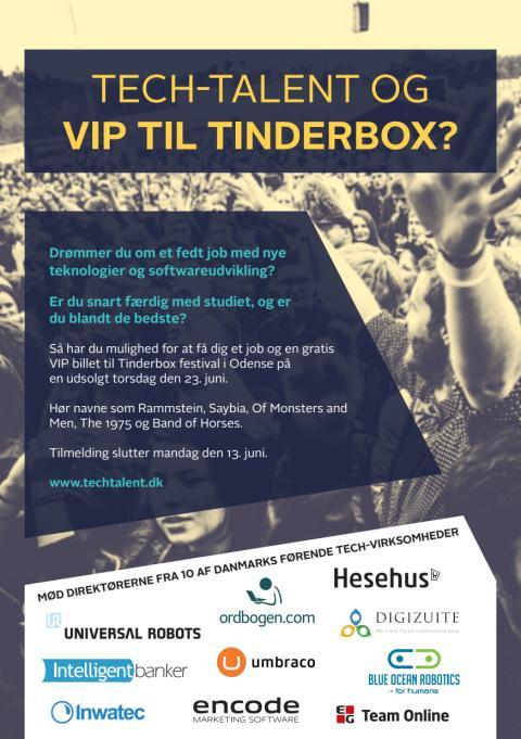 Læs mere om Techtalent jobevent på Tinderbox 2016