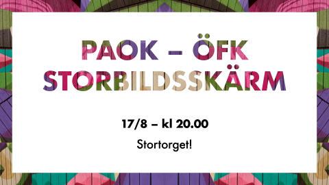 Östersunds näringsliv bjuder på fotbollsfest på Stortorget