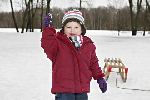 Kind im Schnee 2