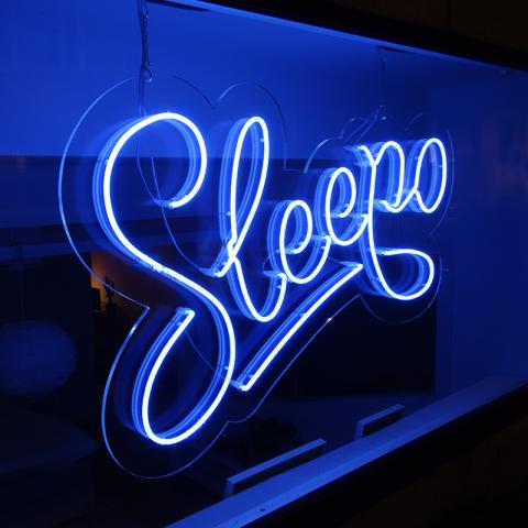 Sleepo neonskylt