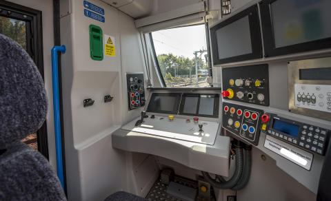 New Moorgate train - cab