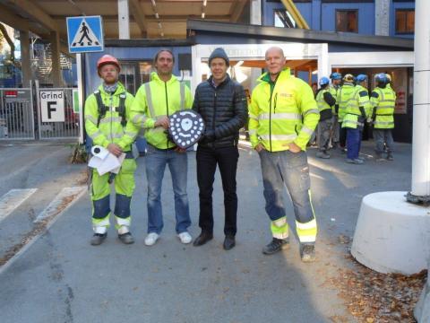 XERVON tilldelas säkerhetsutmärkelse av Skanska