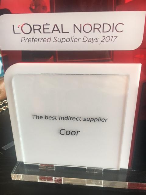 """Coor vinder L'Oréals nye pris som """"Årets nordiske indirekte leverandør"""""""