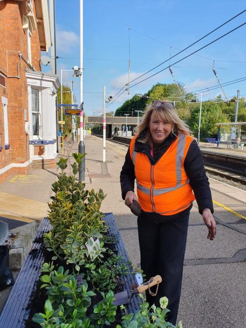 Harlington station garden event