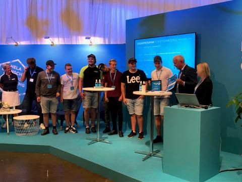 Sveriges bästa gymnasieskolor korades på Elmia Lastbil