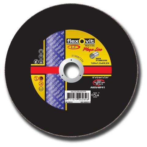 Flexovit Mega-Line - Ny kappeskive med 1,3 mm tykkelse - Produkt 2
