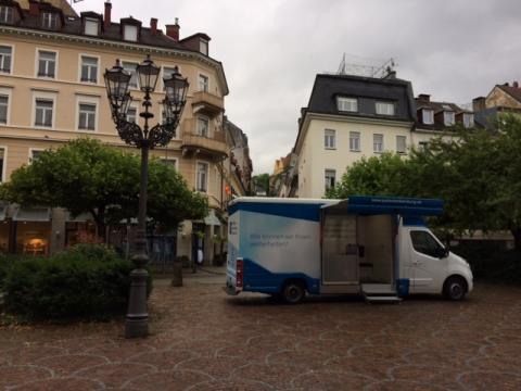 Beratungsmobil der Unabhängigen Patientenberatung kommt am 27. September nach Baden-Baden.