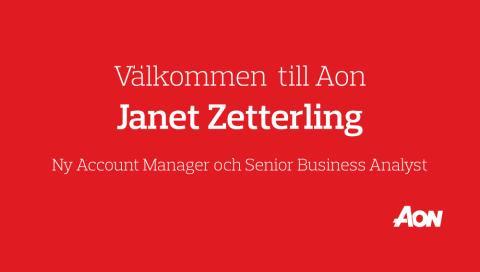 Aon har rekryterat Janet Zetterling