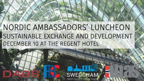 Gentle Reminder: Nordic Ambassadors' Luncheon on Sustainability 10th of December