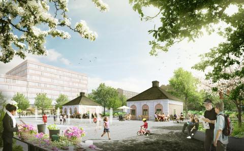   White utvecklar Tullhusplatsen i Stockholm