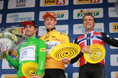 Topp 3 sammenlagt Tour of Norway 2016