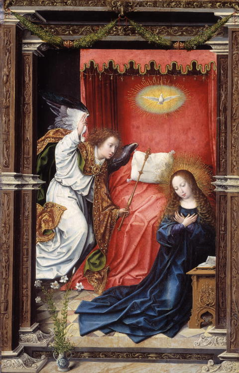 "Bernard van Orley, ""The Annunciation"", ca. 1518, oil on wood, The National Museum"