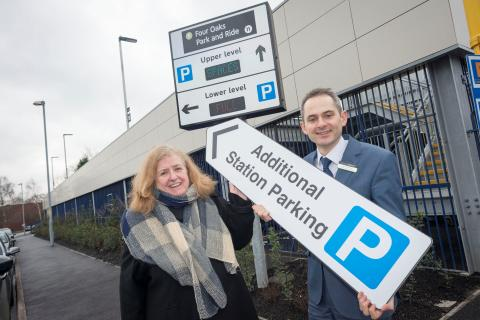 Four Oaks expanded Park and Ride open for business