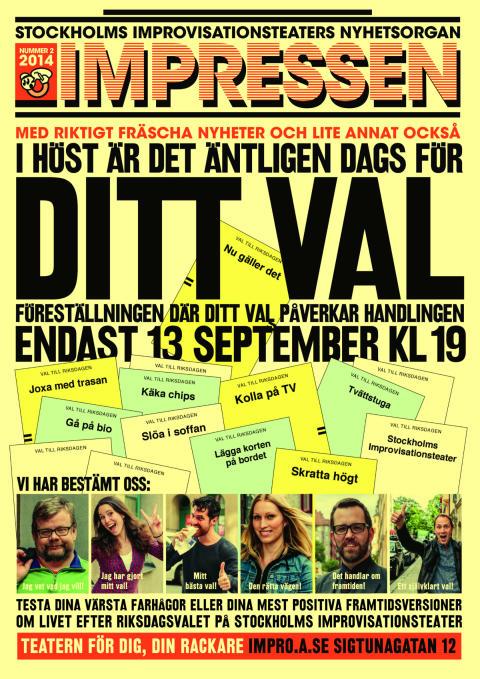 Stockholms improvisationsteater: Föreställning som låter publiken välja