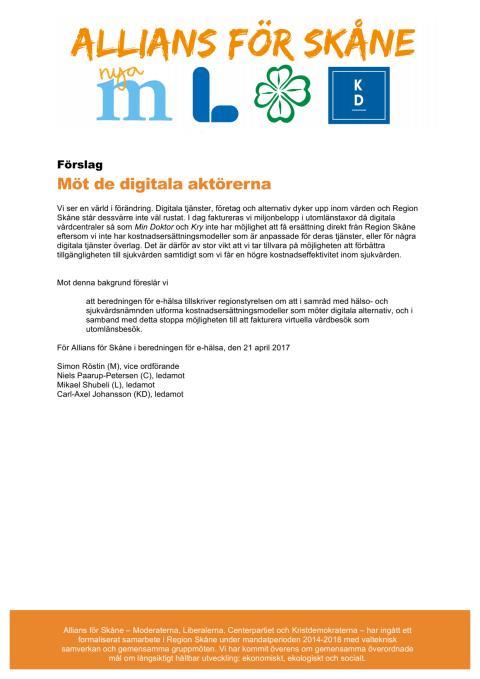 Förslag digitala vårdbesök