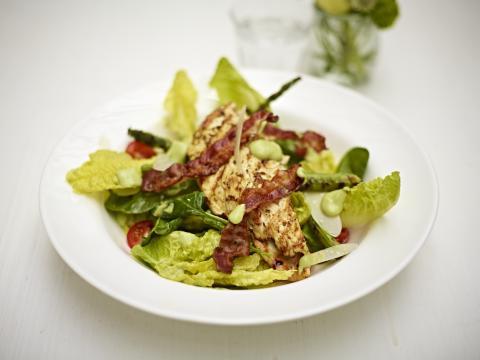 Jamie Oliver, Summer grilled chicken salad with green goddess dressing