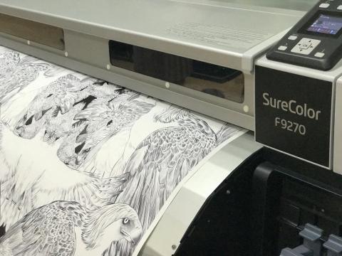 John Herrera design printing on the Epson SureColor SC-F9200
