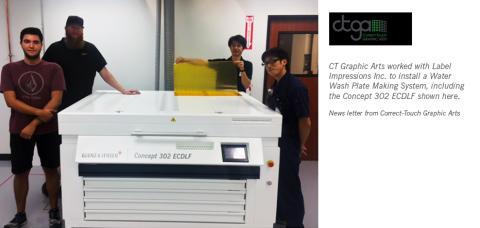 Label Impressions installed (Glunz & Jensen manufactured) plate making equipment